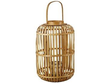 Laterne aus Bambus und Glas H76