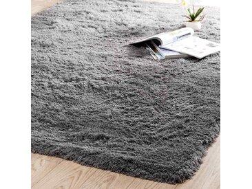 Hochflor Teppich, grau, 160x230