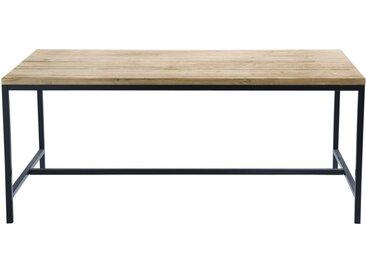 Esstisch im Industrial-Stil für 6/8 Personen aus massivem Tannenholz und Metall L150 Long Island