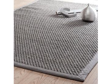Flechtteppich aus Sisal, grau 200x300