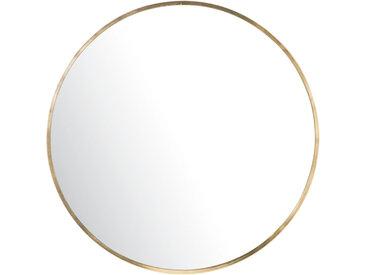 Runder Spiegel mit goldfarbenem Metallrahmen D101