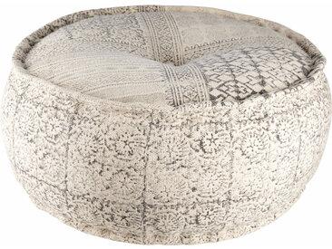 Runder Puff aus bedruckter Baumwolle