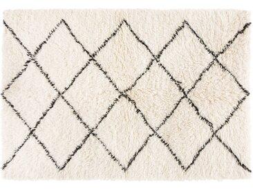Berber-Teppich aus Wolle und Baumwolle 140x200
