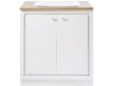 Küchenunterschrank mit Spülbecken und 2 Türen, weiß Embrun