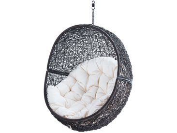 Gartenhängesessel aus Kunstharzgeflecht, braun Cocon
