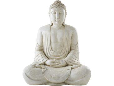 Buddha-Statue, weiß und in gealterter Optik H146