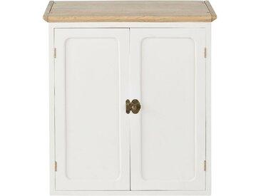Küchenoberschrank mit 2 Türen aus massivem Mangoholz, weiß B60 Cezanne