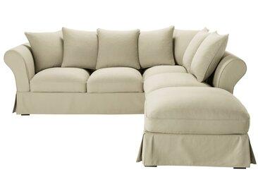 Baumwoll-Bezug für 6-Sitzer-Sofa, kittfarben Roma