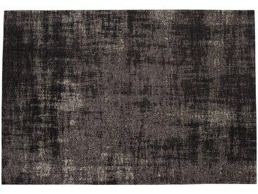 Baumwollteppich FEEL, 200 x 290 cm, schwarz
