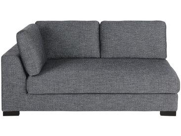 2-Sitzer-Sofamodul mit Armlehne links, ausziehbar und dunkelgrau meliert Terence