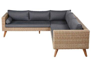 5-Sitzer-Gartenecksofa aus Kunstharzgeflecht Feroe