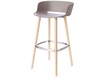 Barhocker Babila Pedrali grau, Designer Odoardo Fioravanti, 92x50x45 cm