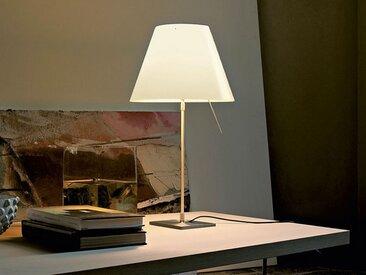 Luceplan Tischlampe Costanza weiß, Designer Paolo Rizzatto, 76-110xFuß 18xFuß 18 cm