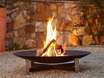 Feuerschale Sunset Weber Metallgestaltung grau, Designer Katrin & Norbert Weber, 18 cm
