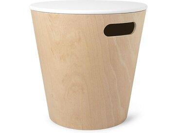 Aufbewahrungshocker Woodrow Umbra beige, Designer Wesley Chau, 41.5 cm