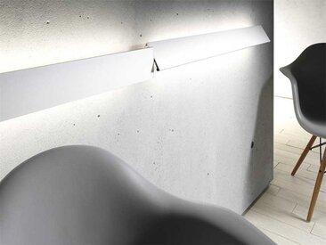 Leuchte mit Metallblende GL 8 Gera-Leuchten beige, Designer Thomas Ritt, 9.4x120x6.8 cm