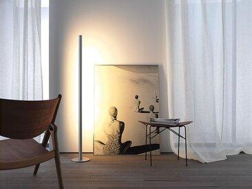 LED Stehlampe Avion Gera-Leuchten silber, Designer Thomas Ritt, 150x6.5x3.5 cm