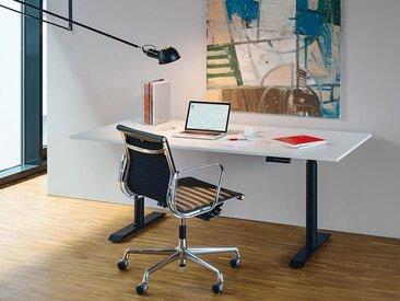 Tischgestell Horun schwarz, 62.5-127.5x107.5-180x60 cm