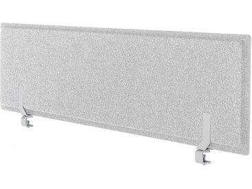 Akustik-Tischtrennwand Pet-Port VARIO grau, Designer Vario, 41x160x4 cm