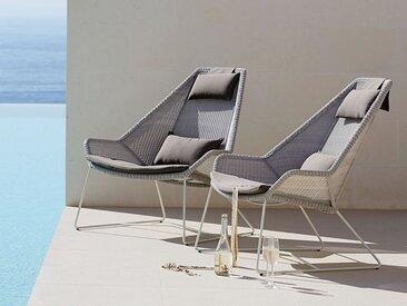 Highback Sessel Breeze Cane-line grau, Designer Christina Strand, Niels Hvass, 98x98x101 cm