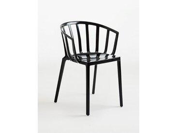 Kartell Stapel-Stuhl Venice schwarz, Designer Philippe Starck, 75x51x51 cm