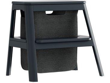 Trittleiter mit Aufbewahrungstasche Step It Up Umage grau, Designer Jonas Søndergaard, 48x55x38 cm