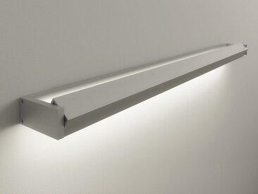LED-Wandleuchte GL 6 Gera-Leuchten silber, Designer Thomas Ritt, 4x120x8 cm