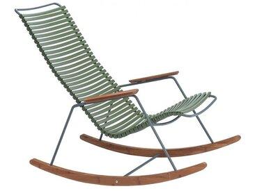 Schaukelstuhl Click Houe grün, Designer Henrik Pedersen, 92x100 cm