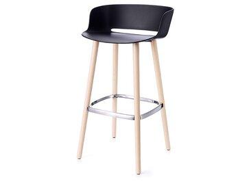 Barsitz Babila Pedrali schwarz, Designer Odoardo Fioravanti, 92x50x45 cm