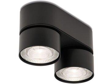 LED-Deckenaufbauleuchte Wittenberg 4.0 Fernglas Mawa Design schwarz, Designer Jan Dinnebier, 9.6x17.6x7.6 cm