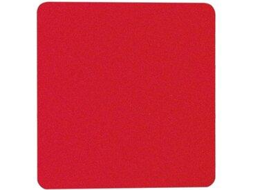 Filzauflage eckig rot, 0.5x33x33 cm