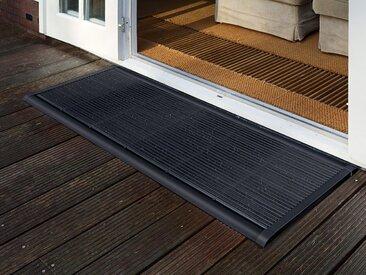 Outdoor-Fußmatte New Standard RiZZ grau, Designer Trudie Zuiddam/WELL design, 2.2x90x60 cm