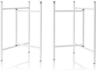 Tischgestell Klappbock 3 Richard Lampert weiß, Designer Alexander Seifried, 69x39x58 cm