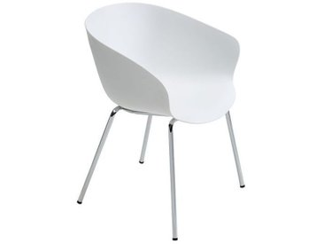 Armlehn-Stuhl Altino weiß, 78x58x60 cm
