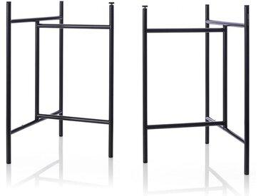 Tischgestell Klappbock 3 Richard Lampert schwarz, Designer Alexander Seifried, 69x39x58 cm