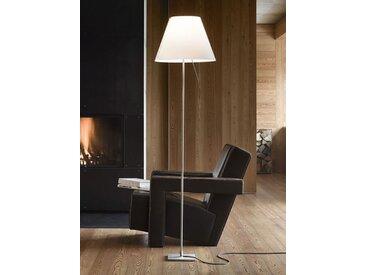 Luceplan Standleuchte Costanza weiß, Designer Paolo Rizzatto, 120-160xFuß 18xFuß 18 cm