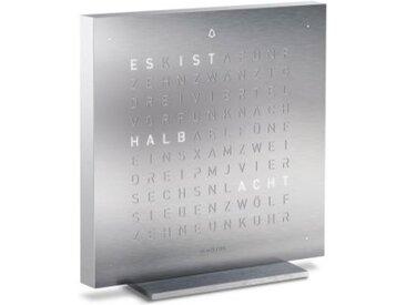 Tisch-Uhr Qlocktwo Touch, Designer Biegert & Funk, 13.5x13.5x1.8 cm