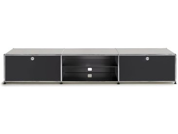 USM Lowboard schwarz, Designer Prof. Fritz Haller, 39x228x53 cm