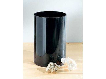Kartell Abfallbehälter schwarz, Designer Gino Colombini, 38 cm