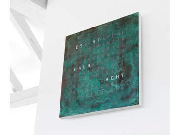 Wanduhr Qlocktwo Creator's Edition QLOCKTWO orange, Designer Biegert & Funk, 45x45x4.5 cm