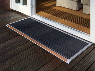 Outdoor-Fussmatte New Standard RiZZ silber, Designer Trudie Zuiddam/WELL design, 2.2x120x70 cm