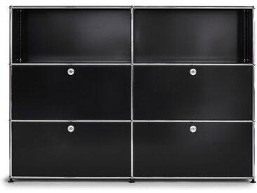 USM Highboard schwarz, Designer Prof. Fritz Haller, 109x153x38 cm