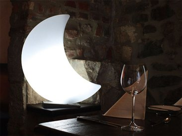 Aussenlampe Shining Moon 8 seasons design weiß, Designer 8 seasons design GmbH, 60x50x14.5 cm