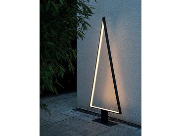LED Stehleuchte Pine Outdoor sompex grau, 160x62 cm