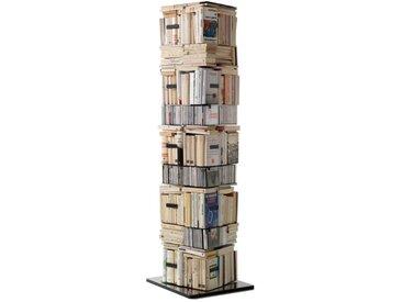 Opinion Ciatti Bücher- und CD-Säule Ptolomeo X4 schwarz, Designer Bruno Rainaldi, 197x52x52 cm