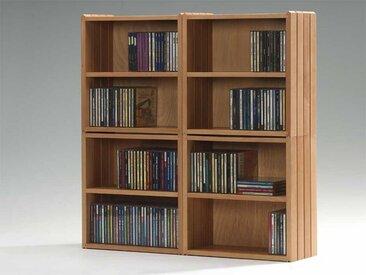 Stapelbox für CDs mehrfarbig, 37x37x18 cm