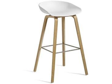 HAY Barhocker About A Stool AAS32 weiß, Designer Hee Welling, 86x50x46 cm