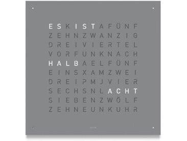 Wand-Uhr Qlocktwo grau, Designer Biegert & Funk, 45x45x4.5 cm