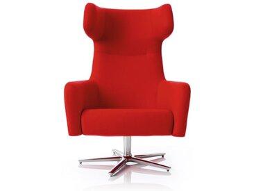 Softline Drehsessel Havana Swivel rot, Designer Busk & Hertzog, 113x79x90 cm