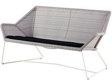 Loungecouch Breeze Cane-line grau, Designer Christina Strand, Niels Hvass, 78x154x76 cm